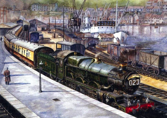 Kingswear Station by artist Paul Freestone