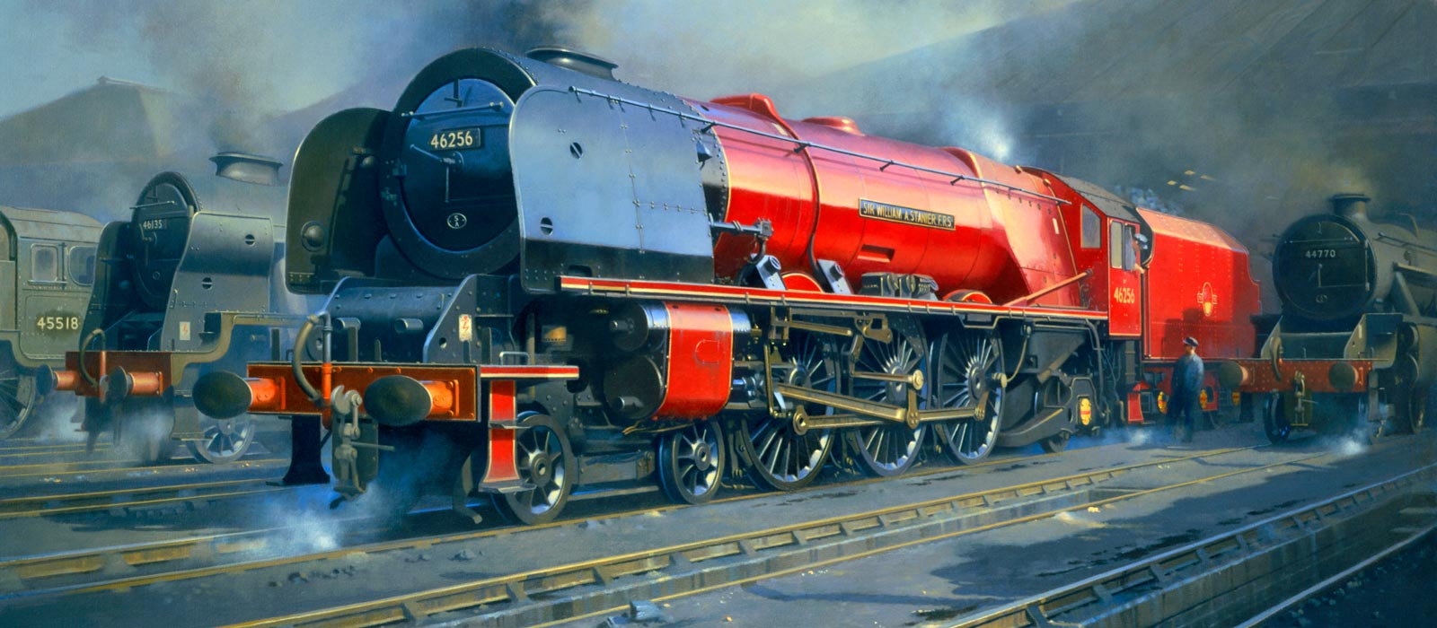 Painting of an LMS Duchess locomotive