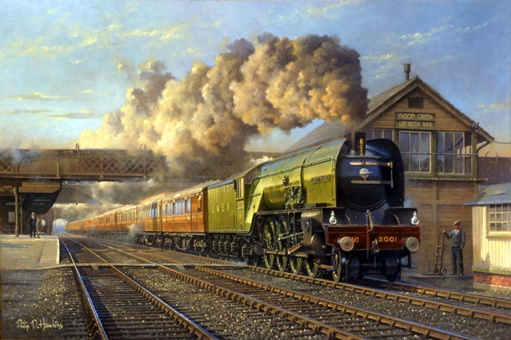 Railway painting by Philip D Hawkins FGRA