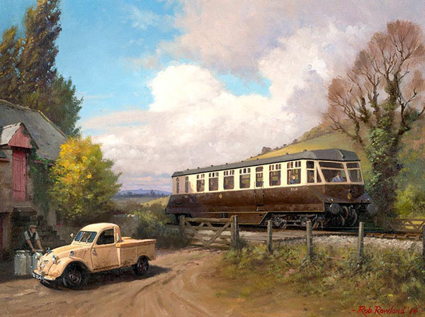 Railway painting by artist Rob Rowland GRA