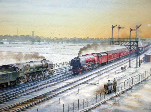 Railway painting by artist John Harrison GRA